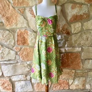 Anthropologie Girls From Savoy Green Dress